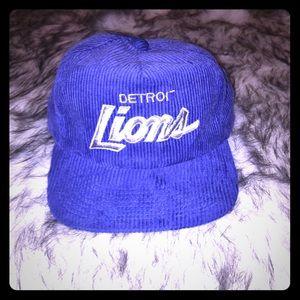 Detroit lions corduroy adjustable hat